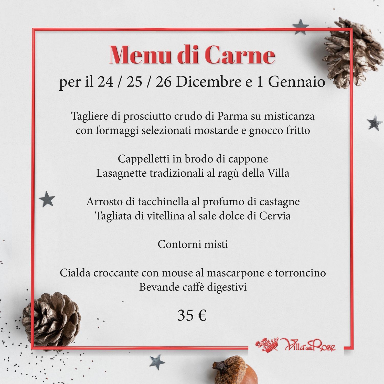 menu di carne ristorante villa delle rose